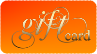 Gift card text on an orange background