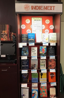 The Indie Next List Display at Vroman's Bookstore.
