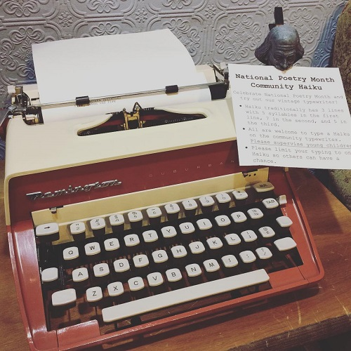 Inkwood Books Poetry Month Typewriter