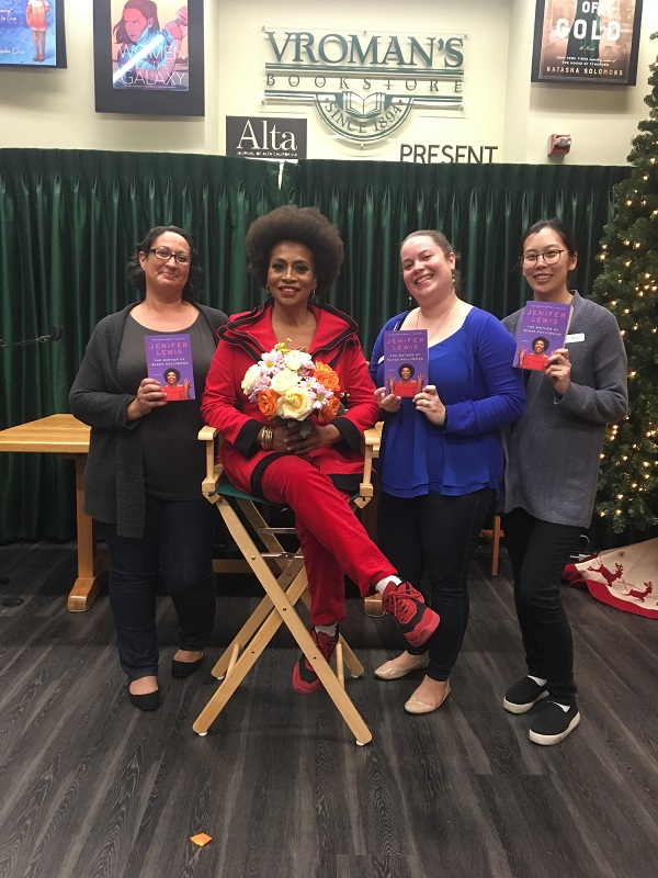 Jenifer Lewis at Vroman's Bookstore in Pasadena, California.
