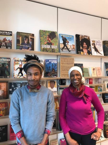 Jermel Moody and Virginia Mixon, the Schomburg Shop's store associates