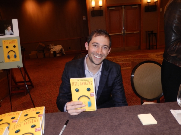Jesse Andrews, author of The Haters, at the Author Reception.