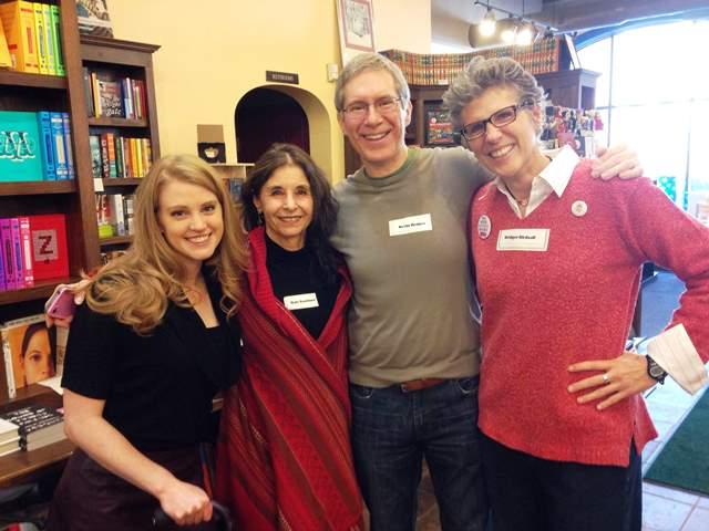 Jesse Klausmeier, Dale Kushner, Kevin Henkes, and Bridget Birdsall at A Room of One's Own Bookstore