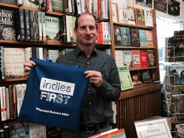 Jim Lynch at Edmonds Bookshop in Edmonds, Washington.