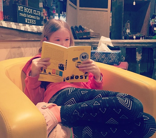A reader at Just One More Page in Tunkhannock, Pennsylvania.