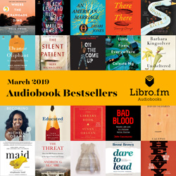 Libro.fm Monthly Audiobook Bestsellers - book jackets for 20 titles