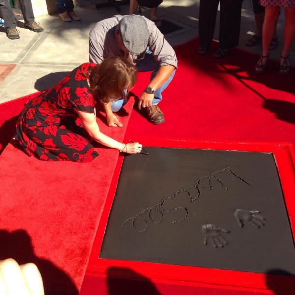 Author Lisa See at Vroman's Walk of Fame