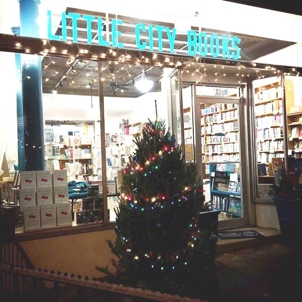 Little City Books shows its holiday spirit.