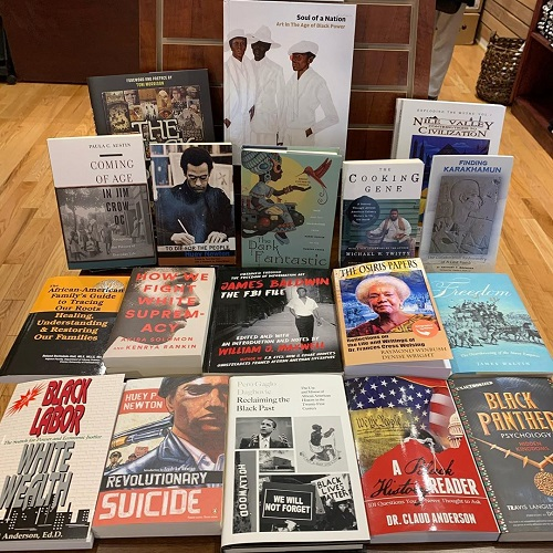 An array of titles in celebration of Black History Month