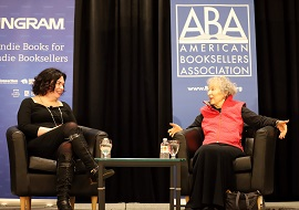 Erin Morgenstern and Margaret Atwood in conversation at Winter Institute 2019.