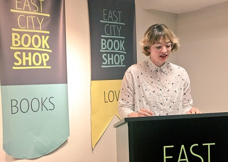 Marissa Lorusso reading at East City Bookshop