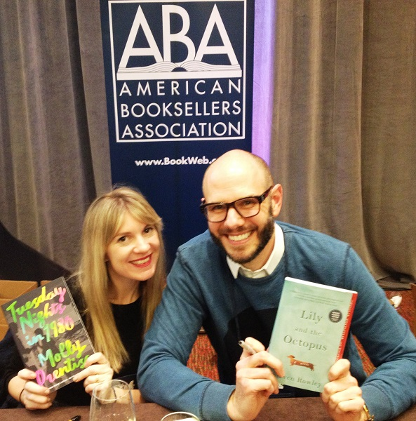 Authors Molly Prentiss and Steven Rowley at the Author Reception.