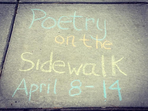 Neighborhood Reads Poetry Month Sidewalk