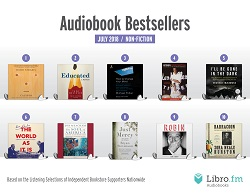 July audiobook bestsellers