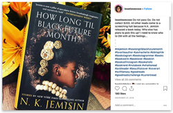 Instagram post featuring How Long 'Til Black Future Month by NK Jemisin as part of #OnceYouGoBlackout