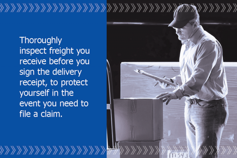 PartnerShip tip: inspect received freight before signing