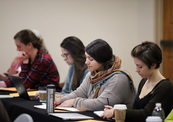 Booksellers attend the Introduction to Retail Bookselling, a Paz & Associates workshop.