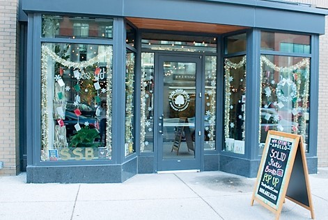 Solid State Books' holiday pop-up shop is nearby its permanent space.