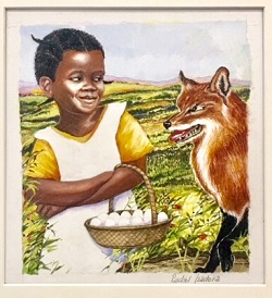 Original art from Rachel Isadora from Flossie & the Fox by Patricia McKissack (Dial, 1986)