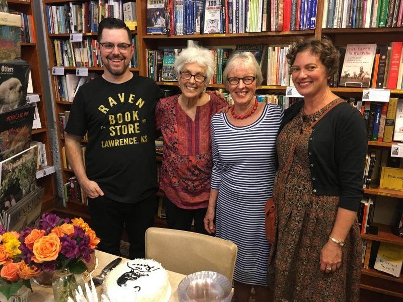 All four owners of the Raven attended the store's 30th anniversary party September 8. From left, Danny Caine (2017-present), Mary Lou Wright and Pat Kehde (1987-2008), and Heidi Raak (2008-2017).