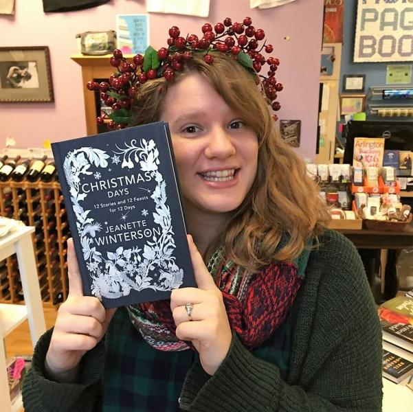 Rebecca Speas of One More Page Books gets into the seasonal spirit.