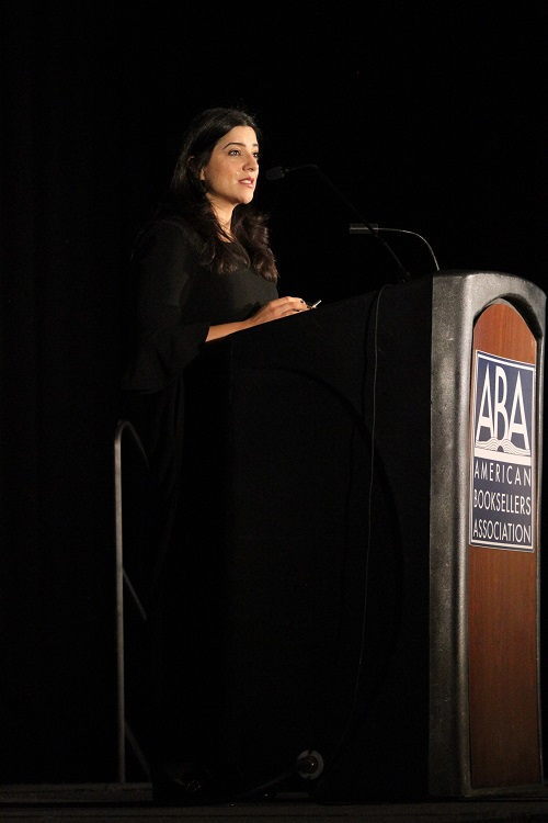 """Keynote speaker Reshma Saujani, author of """"Brave, Not Perfect: Fear Less, Fail More, and Live Bolder."""""""