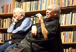 Rick Simonson and Paul Yamazaki in conversation at Elliott Bay Book Company