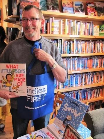Robert Neubecker at Dolly's Bookstore in Park City, Utah.