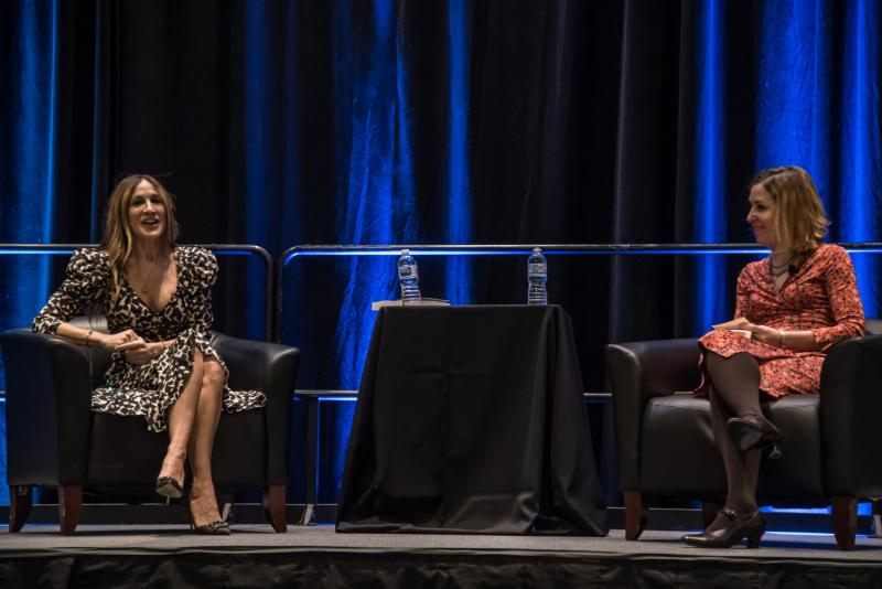 Sarah Jessica Parker with Pamela Paul at Winter Institute 2018