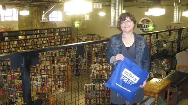 Author Sara Zarr at Weller Book Works in Salt Lake City.