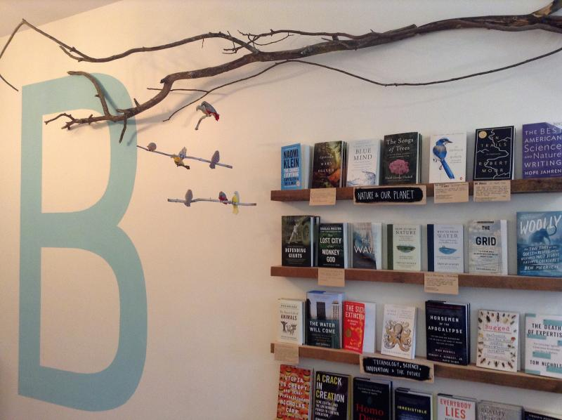All the titles at Black Bird are displayed facing out.