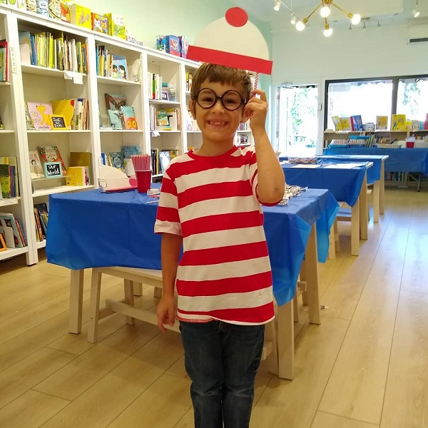 A participant dressed as Waldo at Spark Books in Aspinwall, Pennsylvania.