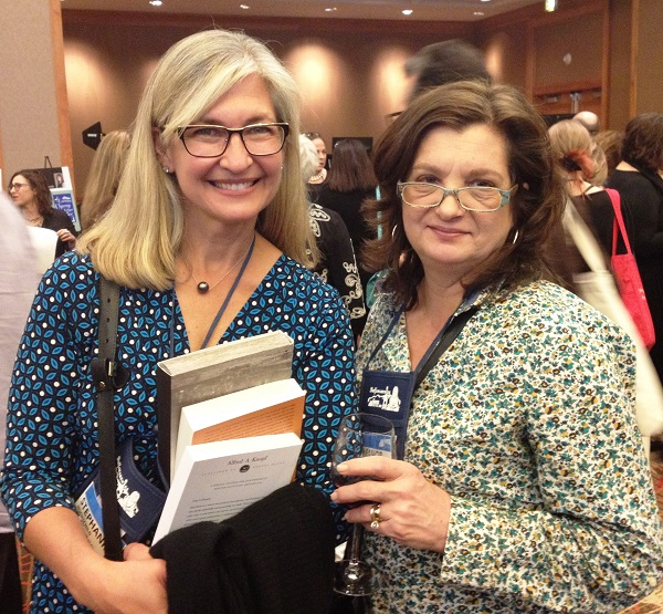 Booksellers Stephanie Hochschild and Eleanor Thorn at the Author Reception.