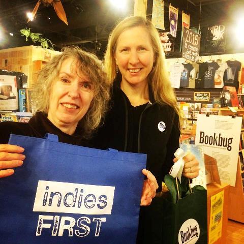 Susan Ramsey and Bonnie Jo Campbell at Bookbug