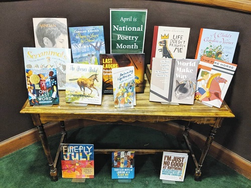 Tattered Cover Book Store Poetry Month Display