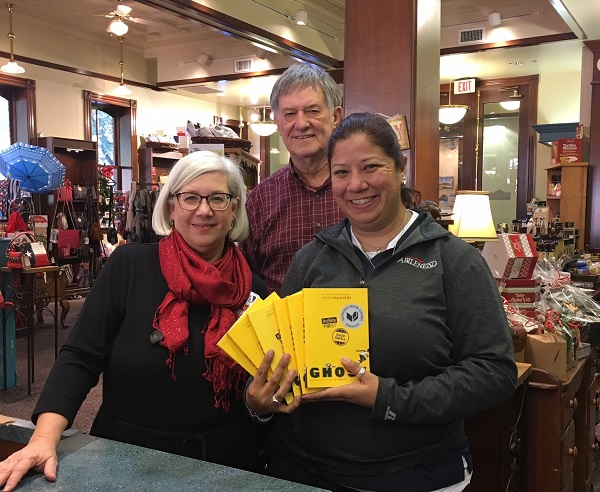 Carol and Glenn Dromgoole of Texas Star Trading Co. presented 24 copies of Ghost to Blue Garcia of Abilene ISD.