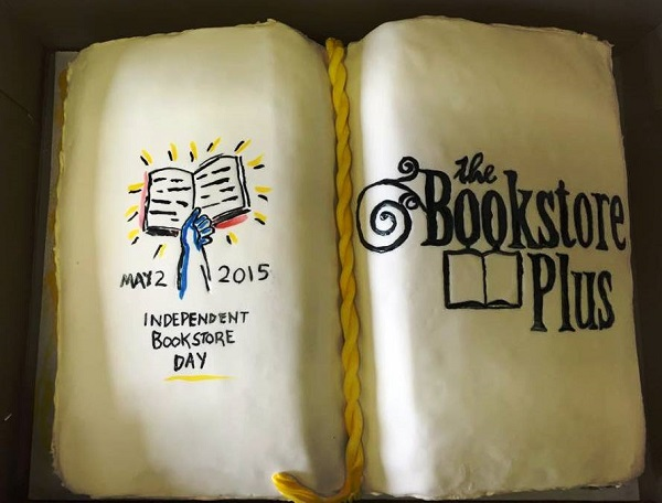 The Bookstore Plus in Lake Placid, New York, enjoyed a specially made Independent Bookstore Day cake.