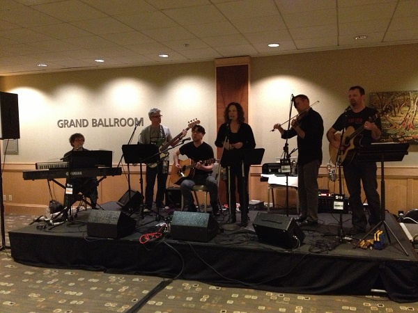 Seattle-based author band The Rejections (And Trailing Spouses) performs at the Small & Independent Press Author Reception.