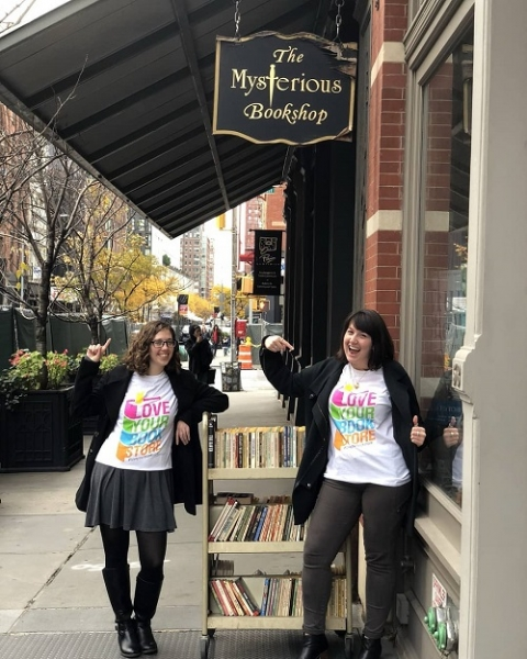 Representatives from Abrams Kids visited The Mysterious Bookshop.
