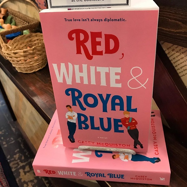 A picture of RED WHITE AND ROYAL BLUE.