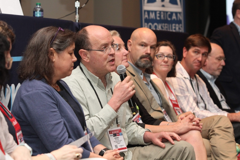 ABA Board member Kenny Brechnber of Devaney, Doak and Garrett Booksellers answers an audience question.