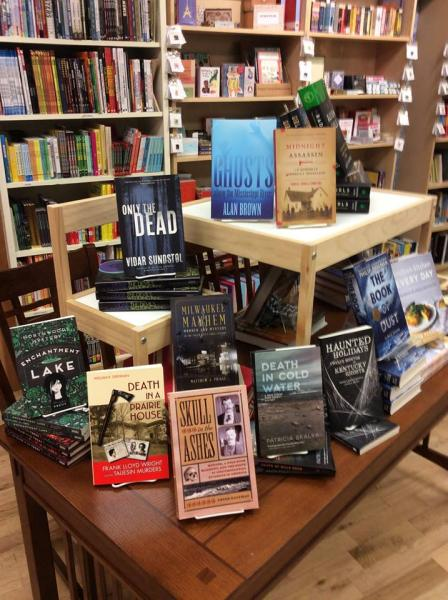 University Press Week display at Dragonfly Books in Decorah, Iowa
