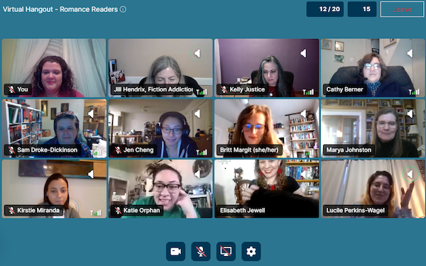 Booksellers talk about romance books in the Virtual Hangout.