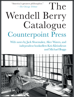 Wendell Berry catalog cover from Counterpoint