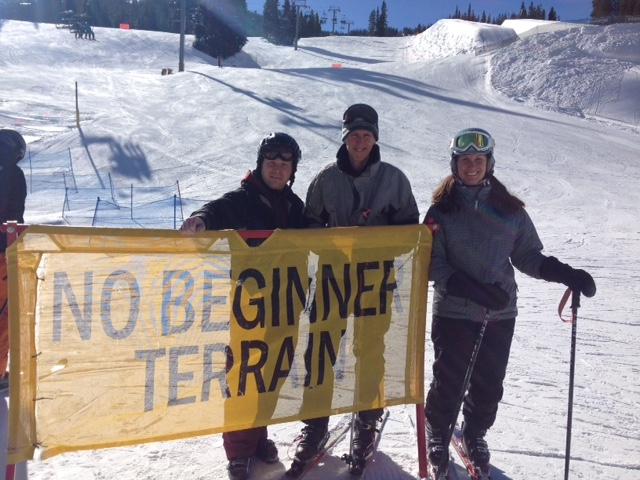 Christopher Green, Bookworm of Edwards; John Edwards, Explore Booksellers; author Heather Sappenfield at Copper Mountain.