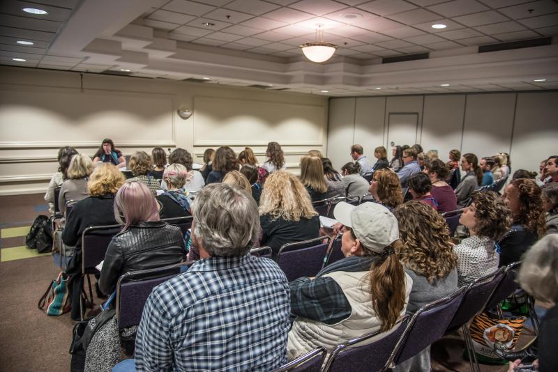 Booksellers at Winter Institute get tips on social media marketing.