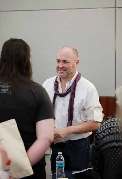 Author Colum McCann appeared at the author reception to sign books.