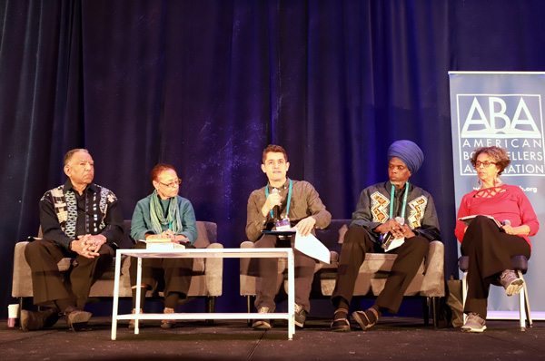 Booksellers heard from panelists at the session on black bookstores in America from the '60s to the present.