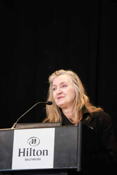 """Bestselling author Rebecca Solnit delivered the keynote """"A (Feminist) Field Guide to Nonexistence."""""""