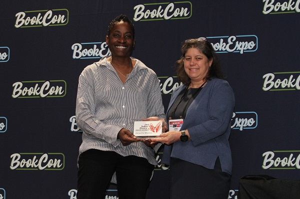 Author Jacqueline Woodson and ABA President Jamie Fiocco